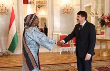 Eniola Ajayi, Ambassador of the Federal Republic of Nigeria with Hungarian President, János Áder