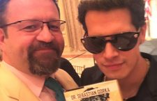 Sebastian Gorka and Milo Yiannopoulos (right) – friends from Breitbart.