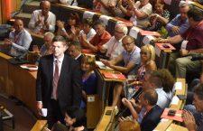Bertalan Tóth at Sunday's MSZP Congress. Photo: MTI.