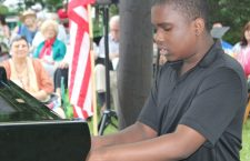 In the musical program 14-year-old Brian Harper played Bartók's Allegro Barbaro.