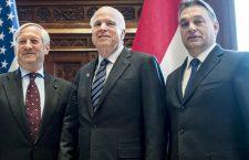 Mr. Eugene Megyesy, Senator McCain and PM Orbán in Budapest.