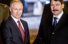 Russian President Putin and Hungary's President Áder – close ties.