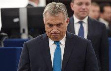 Viktor Orbán in the European Parliament.
