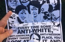 Neo-Nazi poster from a California University campus with Soros and Jewish American politicians opposing the Kavanaugh nomination.