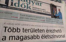 Magyar Idők issue from August 2018.