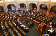 Hungarian parliament on Monday, 18 February, after the entire opposition walks out in protest.