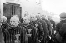 Jehovah's witnesses in German concentration camp during WWII.
