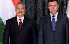 Hungary's Prime Minister Viktor Orbán (left) and Minister of Innovation and Technology László Palkovics.