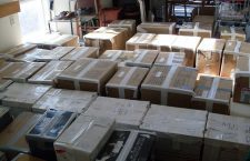 Hungarian books in Montreal ready for transport to Hungary.