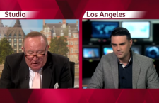 Andrew Neil (left) interviews Ben Shapiro (right) on the BBC...and Mr. Shapiro walks out minutes after this exchange.