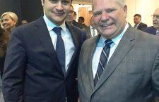 Ambassador Bálint Ódor with Ontario Premier Doug Ford.