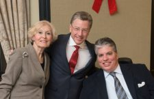 Kurt Volker frequently attended Hungarian events in the US, here with Eva Voisin, Honorary Consul in San Francisco (left) and Max Teleki of the Hungarian American American Coalition (right)