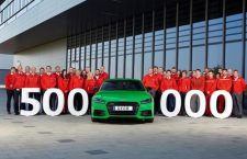Audi Hungaria celebrates the production of its 500,000th car in this file photo.