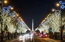 Andrássy Boulevard in Budapest, at Christmas.