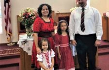 Photo: Pastor András Debreczeni with family – his Arizona based congregation wants independence from Budapest.