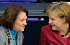 Sabine Leutheusser-Schnarrenberger (left) and German Chancellor Angela Merkel.