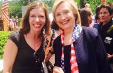 Evelyn Farkas with Secretary Clinton at the Memorial Day Parade