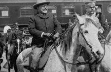 President Roosevelt on horseback