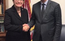 Mr. Gergely Gulyás (right), Hungary's Minister of the Prime Minister's office with Rep. Kaptur. (Facebook photo of Rep. Kaptur)