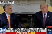 President Trump and Prime Minister Orbán met in Washington in May 2019  (TV news screenshot)