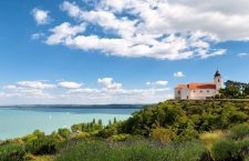 The Benedictine Abbey at Tihany with the Lake Balaton, Hungary in the background.  Photo: ilovebalaton.hu